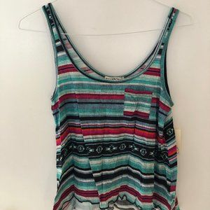 New, Cute, Striped Tank W/ Little Pocket
